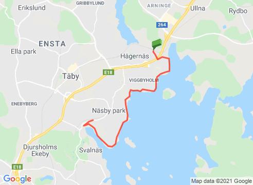 Längs Stora Värtan från Hägernäs till Näsbypark