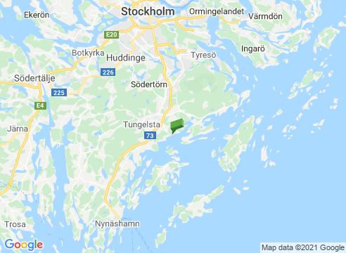 Årsta havsbad och Årsta slott.