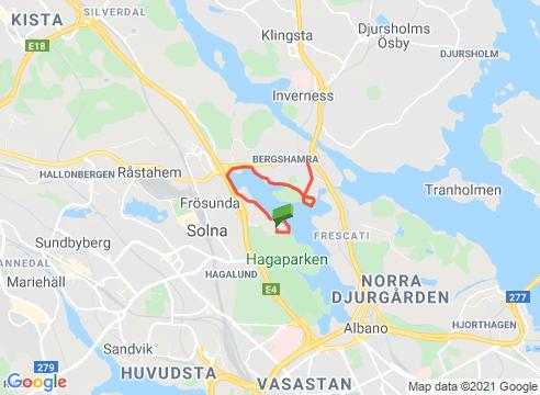 Norra Brunnsviken och Tivoliberget